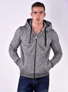 Roberto Lucca Hoodie Long Sleeved Sweater Black Melange 8025...