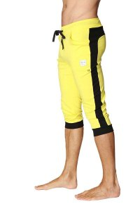 4-rth Cuffed Yoga 3/4 Pants Tropic Yellow/Black