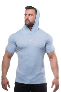 Jed North Pullover Short Sleeved Hoodie Sweater Blue
