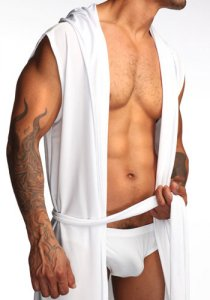 N2N Bodywear Dream Robe Loungewear White L7