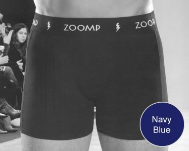 Zoomp Cotton/Elastane Boxer Brief Underwear Navy Blue 710-02
