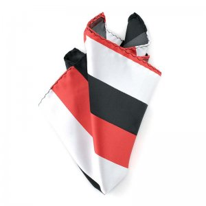 Ulterior Motive Bold Stripe Handkerchief Red/White/Black