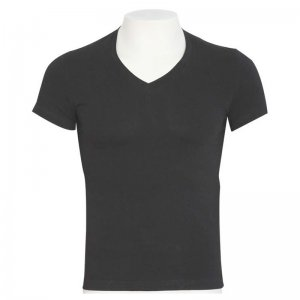 Minerva Sporties Basic Vest V Neck Ultimate Muscle Top T Shirt Charcoal 10460