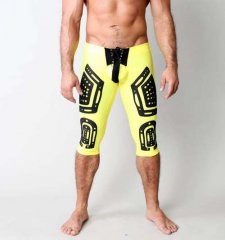 CellBlock 13 Stryker Lace Up Knee Length Pants Yellow CBS004