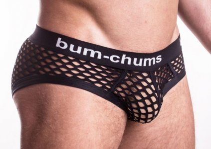 Bum-Chums NutSack Hip Brief Underwear Black