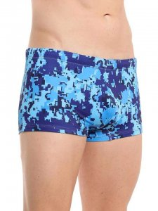Diesel Hero Square Cut Trunk Swimwear Digital Blue Camo