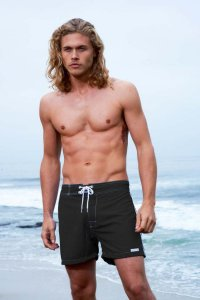 Sauvage Low Tide Surf Shorts Swimwear Black 555