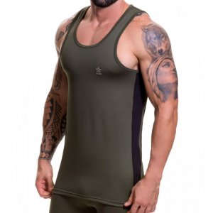 Jor RUNNER Tank Top T Shirt Green 0515