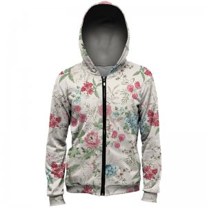 Mr. Gugu & Miss Go Flowers Sketch Unisex Zip Up Hoodie H-PC1065