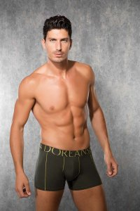 Doreanse Contrast Lines Boxer Brief Underwear Army Green 1766