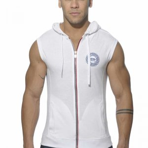 ES Collection Pique Hoody With Full Zip Sleeveless Sweater W...