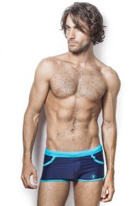 L'Homme Invisible Stamford Shorts Swimwear Navy BA205-B49