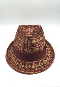 Spy Henry Lau Chic Patterned Straw Hat Red SP788AC95XQIHK