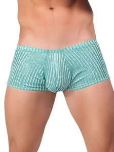 Male Power Burnout Velvet Boxer Brief Underwear Green 145-167