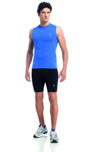 Lupo Compression A Muscle Top T Shirt Royal Blue 70030-1