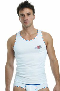 L'Homme Invisible Par Avion Singlet Tank Top T Shirt White MY43-AVI-002