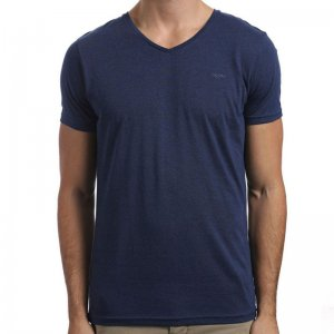 Clearance Mossimo Standard Issue V Neck Short Sleeved T Shirt Navy Marle 0M06BC