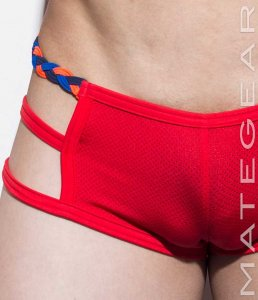 Mategear Kyon Shi Thin Sport Mesh Xpression Mini Shorts Red ...
