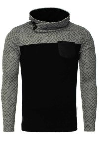 Carisma Checker High Neck 7919-1 Sweater Black