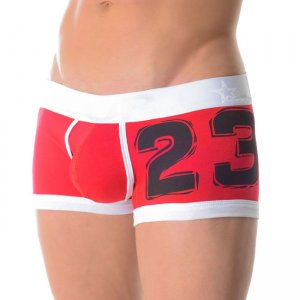 Jor NUMBERS RED Boxer Underwear