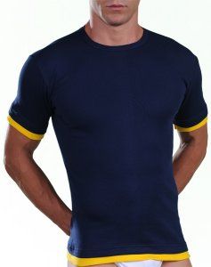 Lord Contrast Trim Short Sleeved T Shirt Blue 503