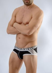 Geronimo Slip Brief Underwear Black 1661S3-1