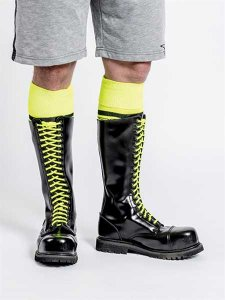 Mister B Sheo Laces Accessory Neon Yellow 414960