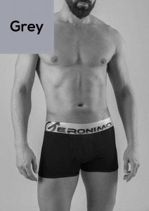Geronimo Boxer Brief Underwear Grey 1765B1