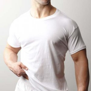 [2 Pack] Players Tall Men's Cotton Short Sleeved T Shirt White 500