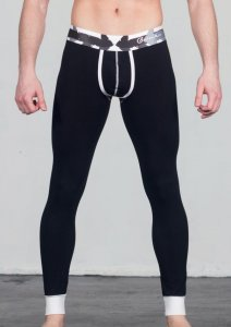 Geronimo Long Johns Long Underwear Pants Black 1665J6-2