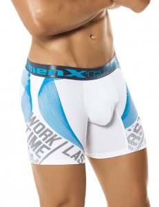 Xtremen Spraypaint Boxer Brief Underwear White 51348