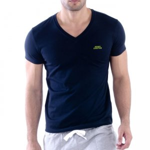 Private Structure Custom Fit V Neck Bodywear Short Sleeved T Shirt Black 99-MT-1626