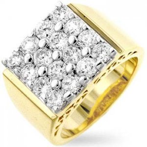 J Goodin Cubic Zirconia Men's Ring R06238T-C01