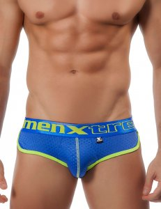 Xtremen Contrast Trim Mesh Brief Underwear Blue 91004