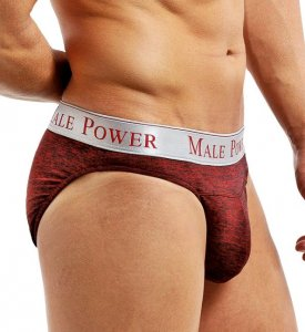 Male Power High Frequency Panel Bikini Underwear Wine 471-222