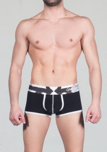Geronimo Boxer Brief Underwear Black 1665B1-2