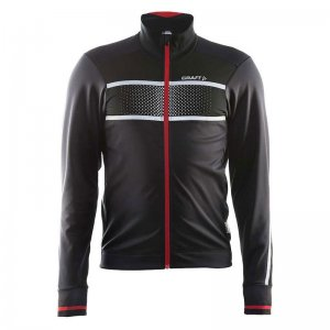 Craft Glow Long Sleeved Jacket Black/Bright Red 1903670