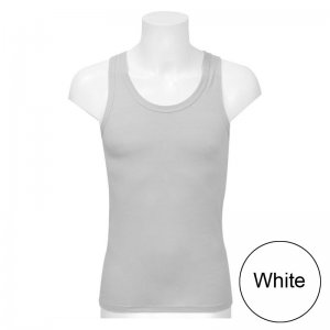 Minerva Sporties Basic Vest Muscle Top T Shirt White 10140