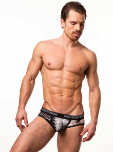 N2N Bodywear Studio Groove Brief Underwear Black PU1