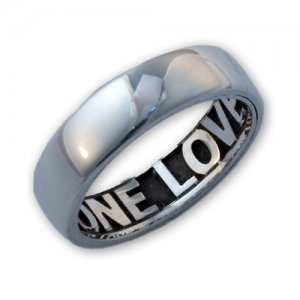 Personalized Men's Jewelry Sterling Silver Comfort Fit Inside Engraved Ring 101-14-001-02