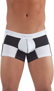 Mundo Unico Formula One Soft & Comfortable Short Boxer Brief Underwear Black/White 96100802-30
