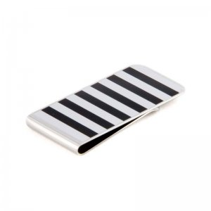 Ulterior Motive Zebra Money Clip Black/White
