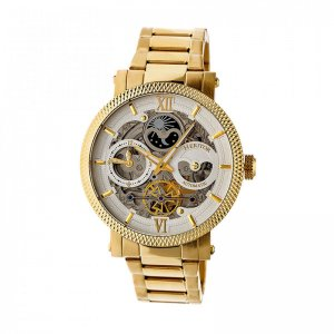 Heritor Automatic Aries Skeleton Dial Bracelet Watch - Gold/...