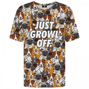 Mr. Gugu & Miss Go Just Growl Off Unisex Short Sleeved T Shirt TSH1464