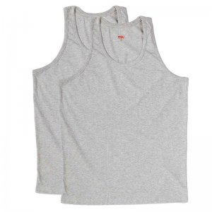 Levi's [2 Pack] Classic Tank Top T Shirt Heather Grey 200