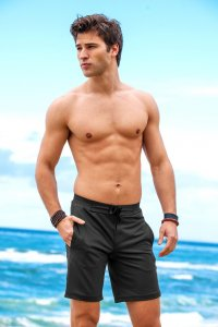Sauvage Workout Surf Shorts Black
