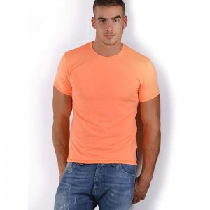 Roberto Lucca Slim Fit Short Sleeved T Shirt Neon Orange 80218-00181