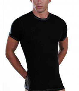 Lord Elastic Short Sleeved T Shirt Black 8168