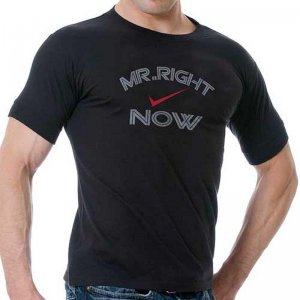 PriapeWear Mr Right Now Short Sleeved T Shirt Black