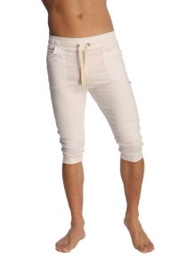 4-rth Cuffed Yoga 3/4 Pants White